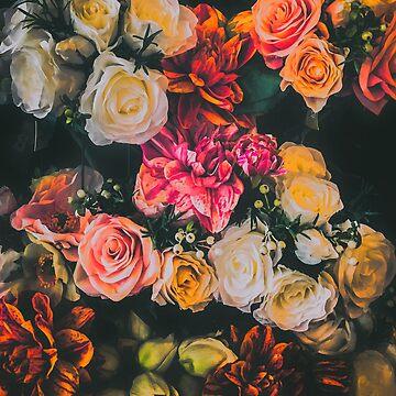 Dark Floral, Warm Tones by rhoadsette
