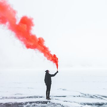Man with Red Smoke by rhoadsette