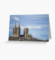 Ville de Coutances and Cathedral Greeting Card