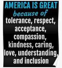 Womens March on Washington - America is Great Because... Poster