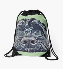Cockapoo Pop Art - Green Drawstring Bag