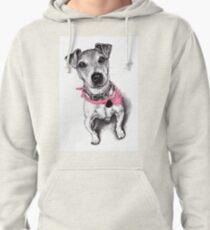 Jack Russell Terrier wearing a bandana Pullover Hoodie