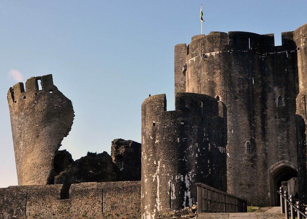Caerphilly Castle - East Gate by Chris Monks