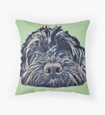 Cockapoo Pop Art - Green Throw Pillow