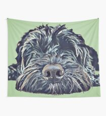 Cockapoo Pop Art - Green Wall Tapestry