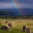 Three Rocks & Rainbow by A.M. Ruttle