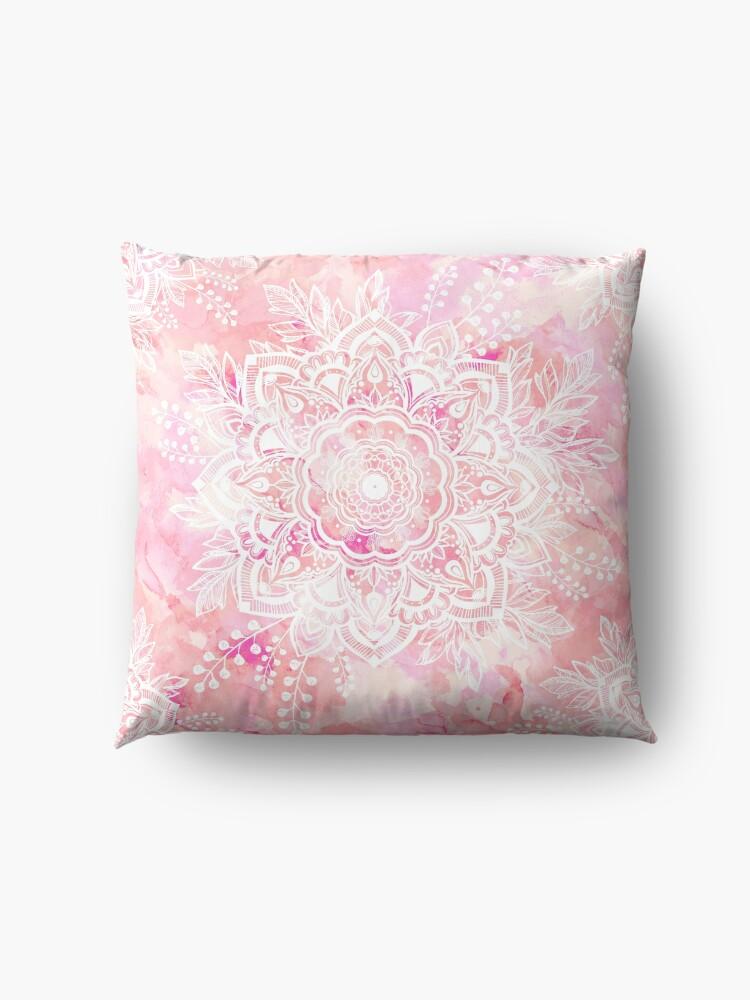 Alternate view of Queen Starring of Mandalas Pink Floor Pillow