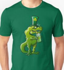 Saint Patrick's Day Tyrannosaurus Rex Slim Fit T-Shirt