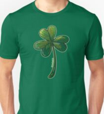 Saint Patrick's Day Clover Slim Fit T-Shirt