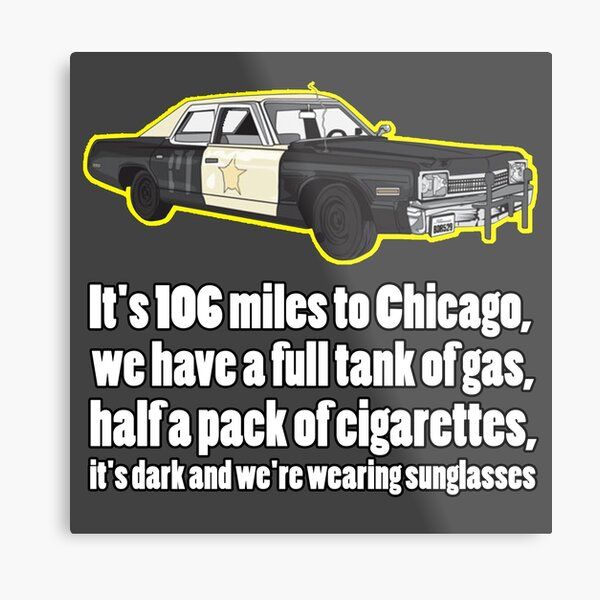 blues brothers bluesmobile movie tv Metal Print