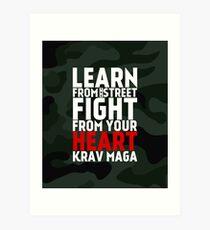 Learn From The Street Krav Maga - Camouflage Art Print