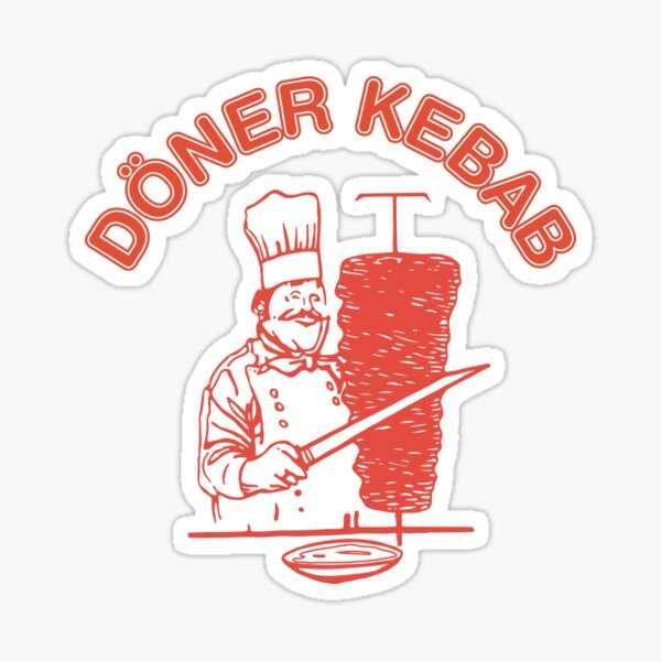 Doner kebab logo Sticker