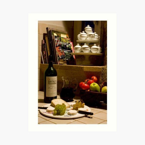 Un verre de vin rouge?  A glass of red wine? Art Print