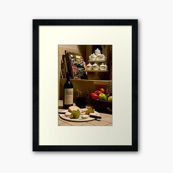 Un verre de vin rouge?  A glass of red wine? Framed Art Print