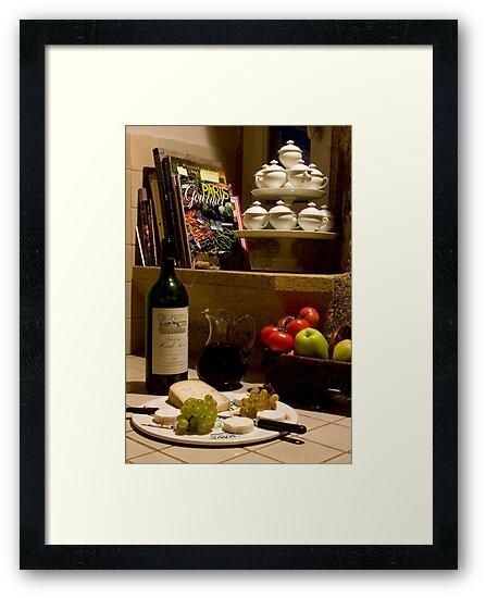 Un verre de vin rouge?  A glass of red wine? by A.M. Ruttle