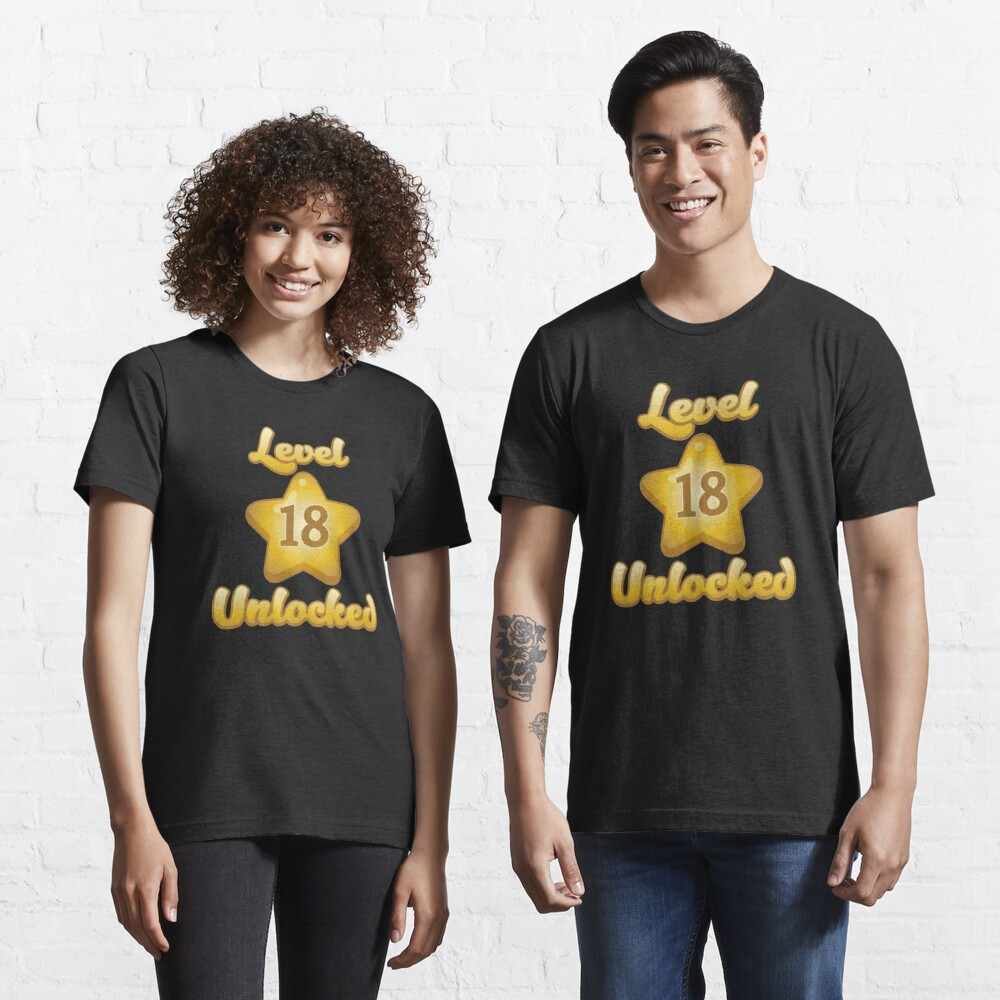 Level 18 Unlocked - Funny Gaming Quote Gift Essential T-Shirt