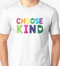 Choose Kind T Shirt - Anti-Bullying - Heart T-Shirt - Rainbow Unisex T-Shirt