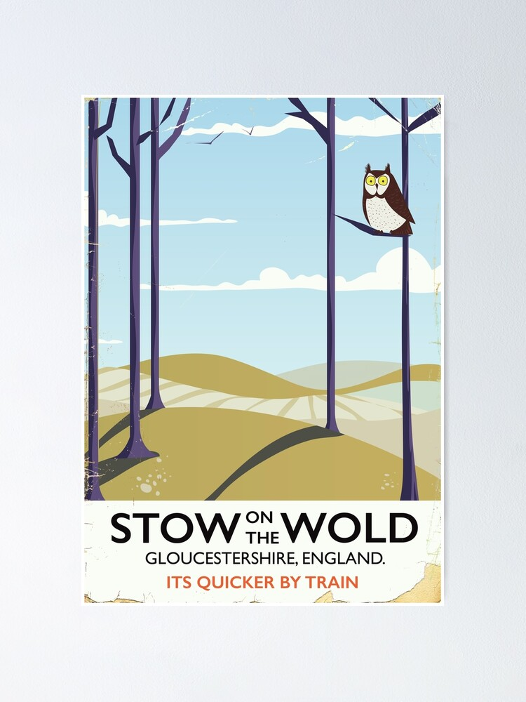 Alternate view of stow on the wold Poster