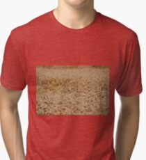 golden wheat field nature background  Tri-blend T-Shirt
