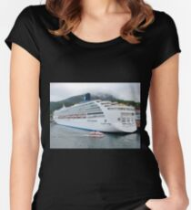 Large and Small Women's Fitted Scoop T-Shirt