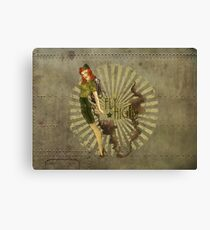 Fly High Dieselpunk Woman Canvas Print