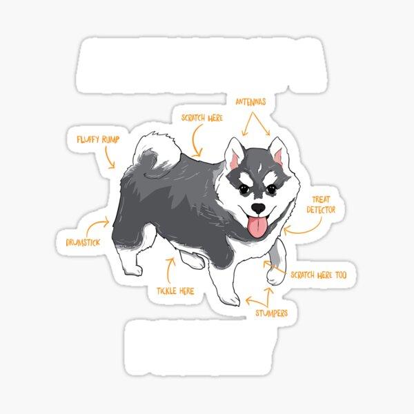 PEACE LOVE POMSKY Vinyl Sticker AKC Dog Breed Cat POMSKIES Pemeranian Husky