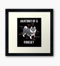 Anatomy of Pomsky Framed Print