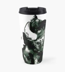 Timid Bison,Canadian Animal, acrylic illustration Travel Mug