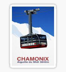 Chamonix Ski Resort , Aiguille du Midi Cable Car Sticker