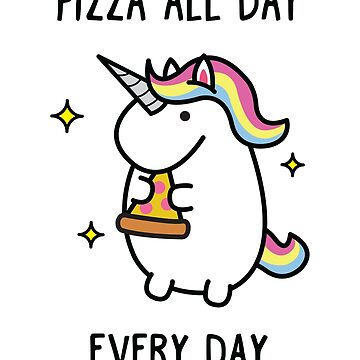 Unicorn Pizza T-Shirt by Blvckstar