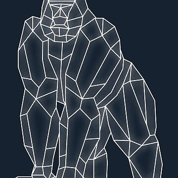 Geometric Gorilla by rakelittle