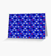 Lips on Ultramarine Pattern Greeting Card