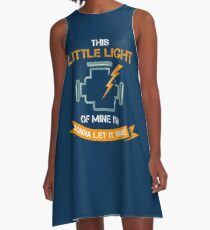Little Light Of Mine Gonna Let It Shine - Funny Car Pun Gift A-Linien Kleid