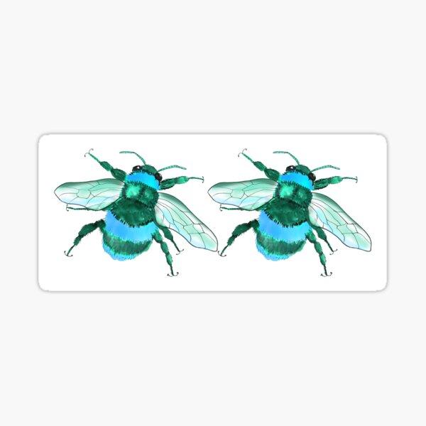 Bee Mug Blue Sticker