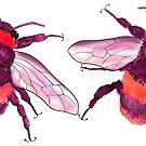 Bee Mug Red by ElliePDesigns