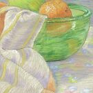 Apple & Orange Still Life by Paula Parker