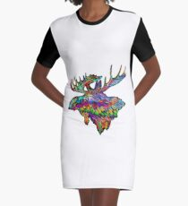 Colorful Extreme Graphic T-Shirt Dress