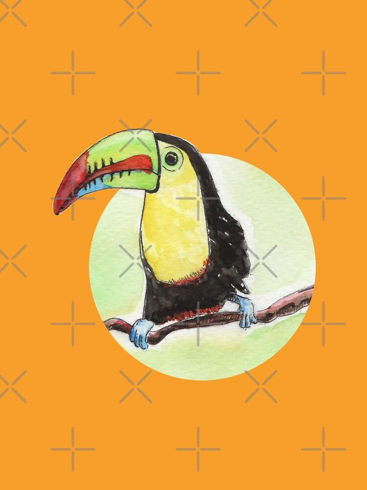 Toucan watercolor by nobelbunt