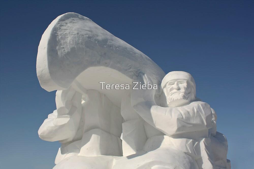 Snow Sculpture by Teresa Zieba