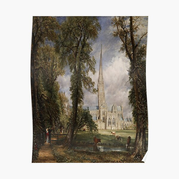 Salisbury Cathedral from the Bishop's Grounds-John Constable Poster