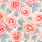 Oversized Opal Pink and Peach Painted Roses by micklyn