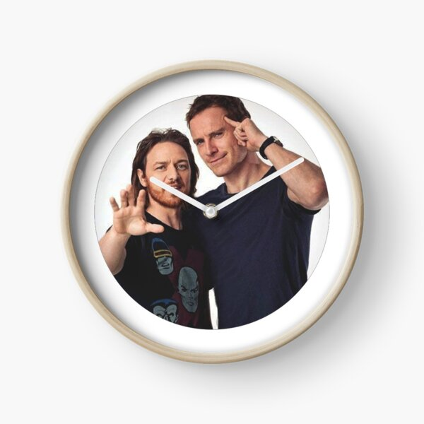 Fassbender and McAvoy Clock