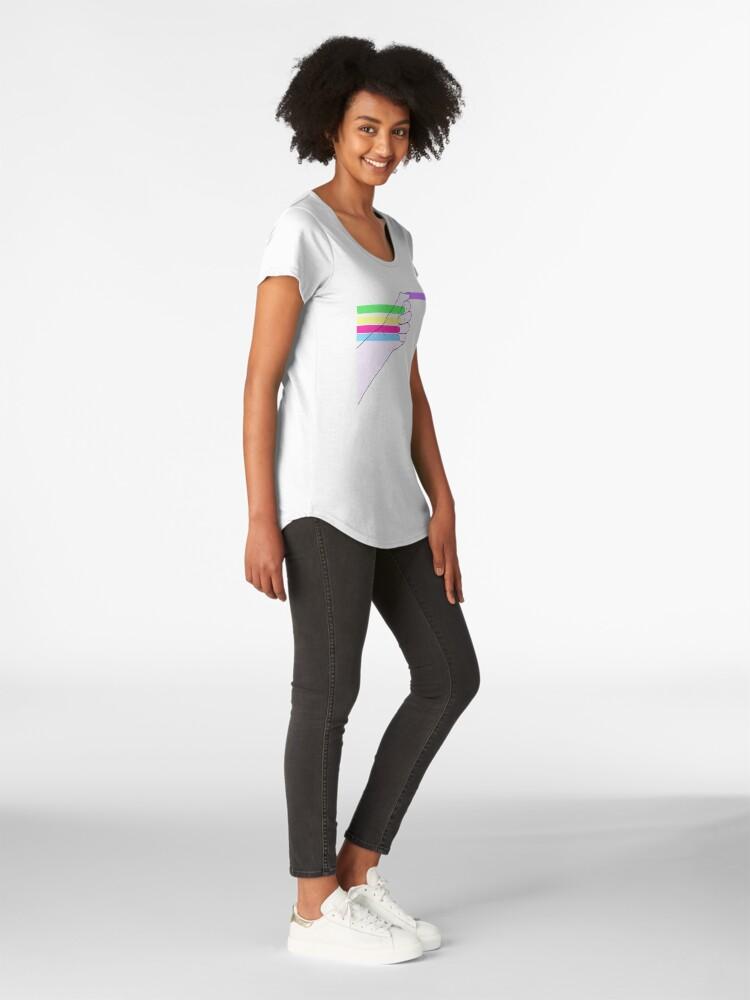 Vista alternativa de Camiseta premium de cuello ancho Poder feminista