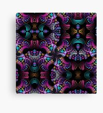 Colourful Spinning patterns Canvas Print