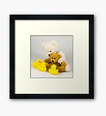 Ted meets some local wildlife. Framed Print