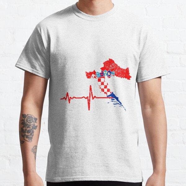 Heartbeat Croatia Silhouette Classic T-Shirt