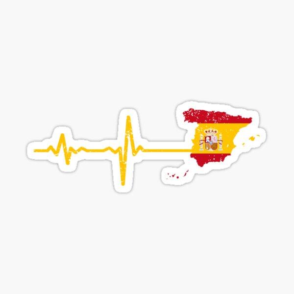 Heartbeat Spain Silhouette Sticker