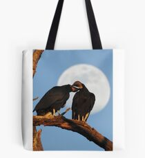 Vultures Necking Under the Full Moon Tote Bag