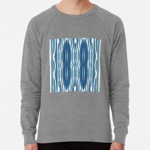 Blue symmetrical chaotic pattern Lightweight Sweatshirt