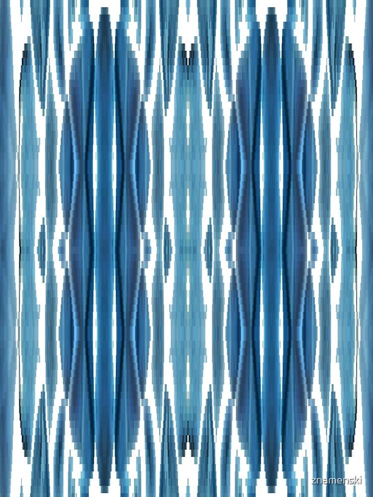 Blue symmetrical chaotic pattern by znamenski